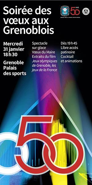 Mairie de Grenoble - Skyscraper agenda - voeux du maire janvier 2018